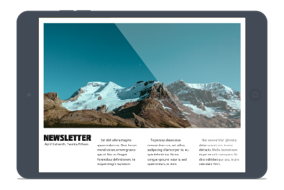 Publish anywhere (iPad)