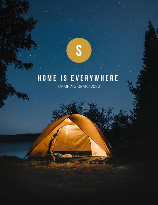 Camping Gear Catalog Template