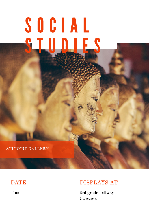 Social Studies Education Poster Template
