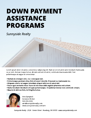 Down Payment Flyer Template