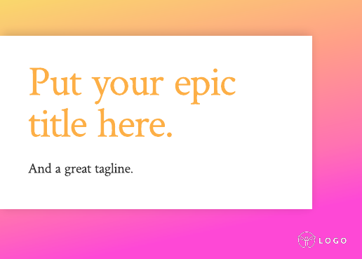 Gradient Pitch Deck Template