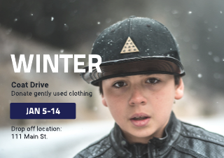 Coat drive flyer template