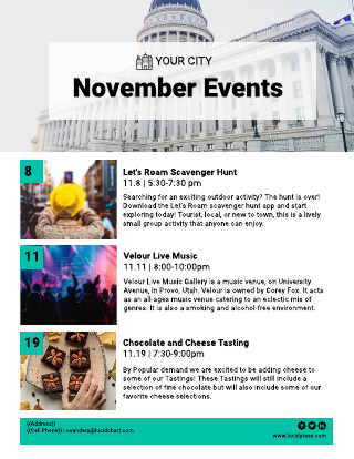 City events newsletter template