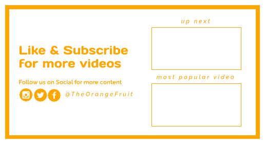 Orange Youtube End Screen Template