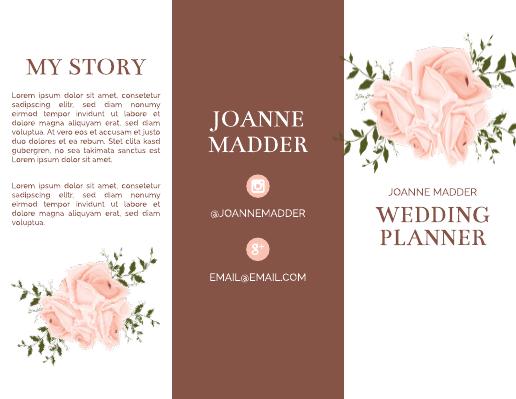 Maroon Wedding Planner Brochure Template