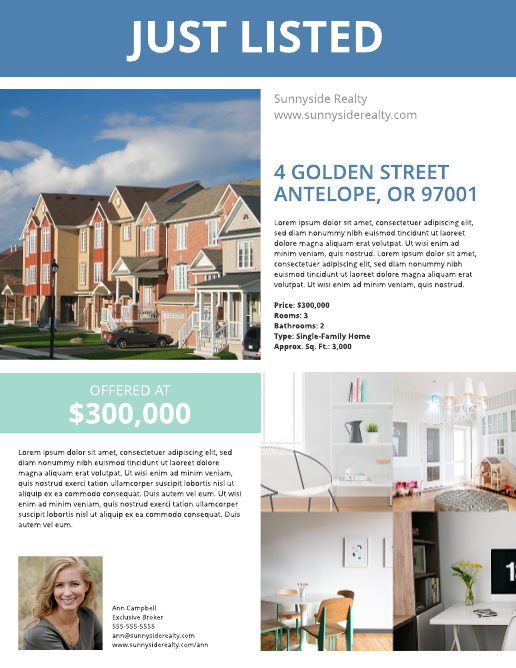 Townhouse Listing Flyer Template