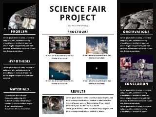 Space Science Fair Poster Template