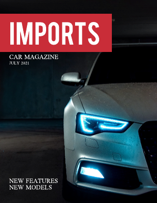 Red Simple Car Magazine Template