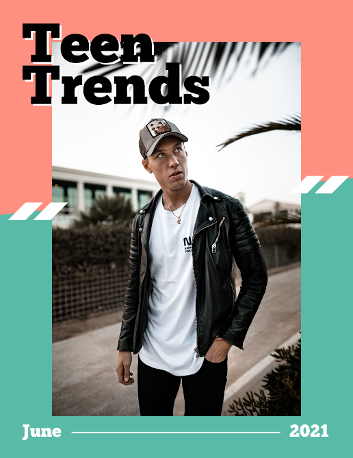 Bright Colors Teen Fashion Magazine Template