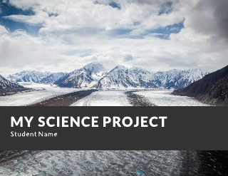 Science Project Presentation Education Template 01