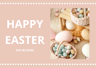Family Photo Easter Card Template