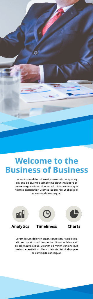 Executive Business Banner Template