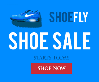 Blue Shoe Banner Ad Template