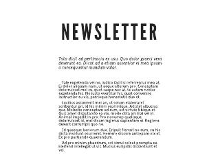 digital newsletter sample