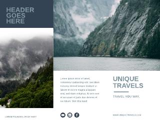 Blue and White Alaska Travel Tri-Fold Brochure Template