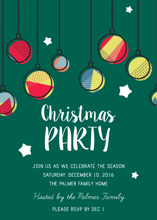 Christmas Party Invitation 02 (5x7)