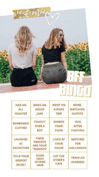BFF Bingo Instagram Story Template