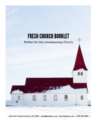Refreshed Church Booklet Template | Lucidpress