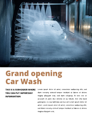 Grand Opening Car Wash Flyer Template
