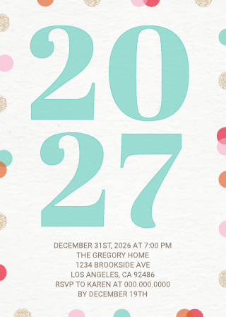 Bright New Years Party Invitation Template