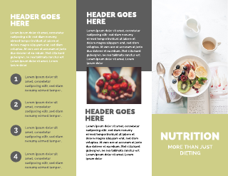 Nutrition and Exercise Medical Tri-Fold Brochure Template