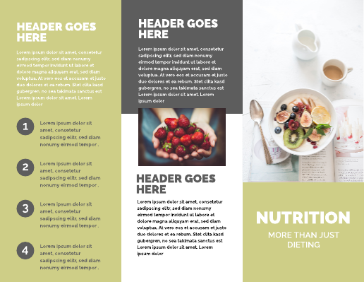 Nutrition and Exercise Medical Brochure Template