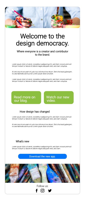 Designer Email Template