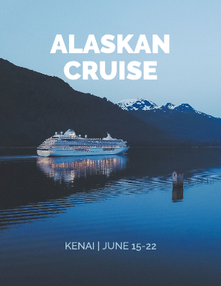 Alaskan cruise electronic press kit template