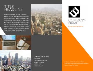 Contempo Modern Company Tri-Fold Brochure Template