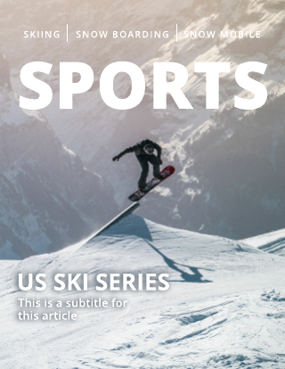 Winter Sports Magazine Cover Template