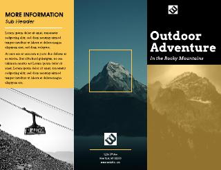 Alpine Vista Company Tri-Fold Brochure Template
