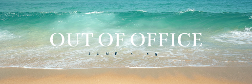Out of Office Twitter Header Template