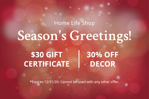 Bright lights Christmas gift certificate template