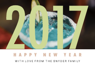 Celebrate New Years Card Template