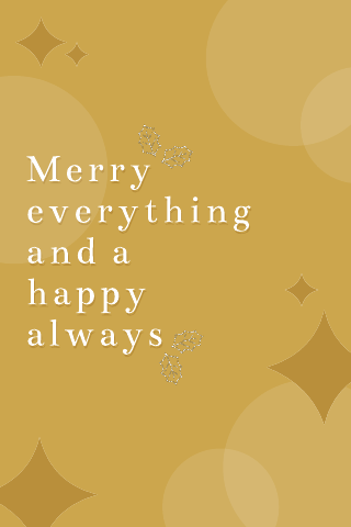 Gold Christmas quote poster template