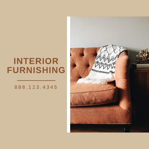 Brown Interior Furnishing Facebook Post Template