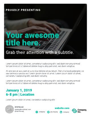 Announcement business flyer template