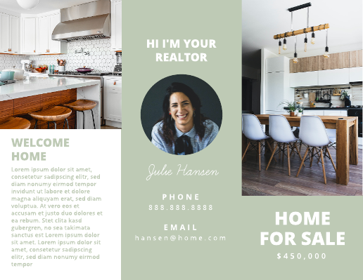 Real Estate Home For Sale Brochure Template