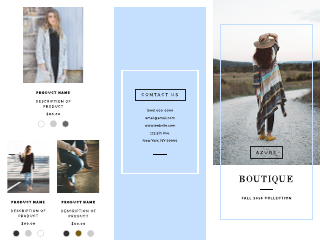 Boutique Product Business Tri-Fold Brochure Template