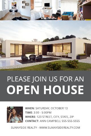 Modern Open House Postcard Template