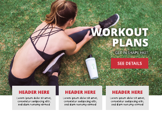 Workout Plans Scrolling Website Template