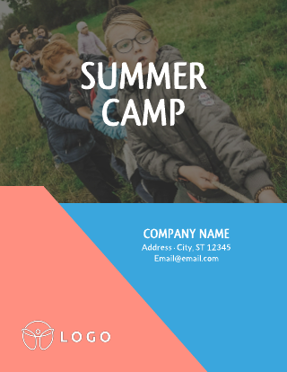 Bright Summer Camp Flyer Template