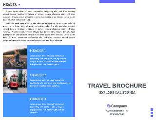 Travel Bi-Fold Brochure Template