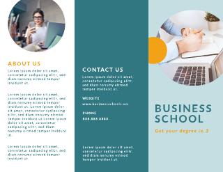 Business School Tri-Fold Brochure Template
