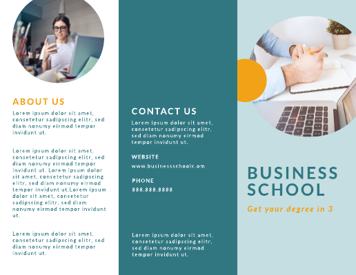 Business School Brochure Template