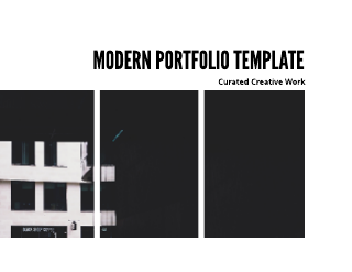 Bold Photo Portfolio Template