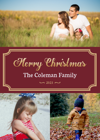 Collage Christmas Card Template (5x7)