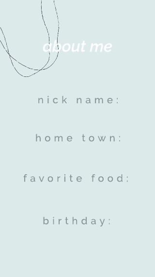 Simple Blue About Me Instagram Story Template