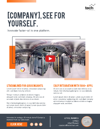 Tech business flyer video template