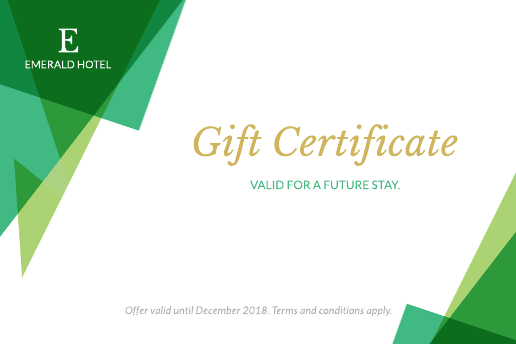 Gardens Hotel Gift Certificate Template